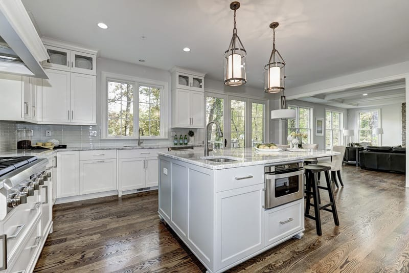 kitchen from island